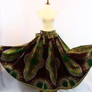 Dresses & Skirts - Handmade African Ankara Print Maxi Skirt